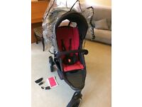 Phil and Teds Explorer double buggy, fantastic condition with rain cover