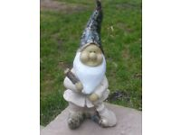 Stylish Fosters Style Part Glazed Garden Gnome 34cm tall (1121)