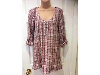 Brand New White Stuff Size 10 Burgundy Blouse and Matching longline knitwear