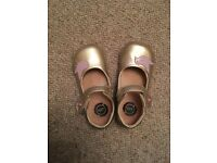 Livie & Luca Metallic Gold Pio Pios - natural leather - US Size 13/UK size 12