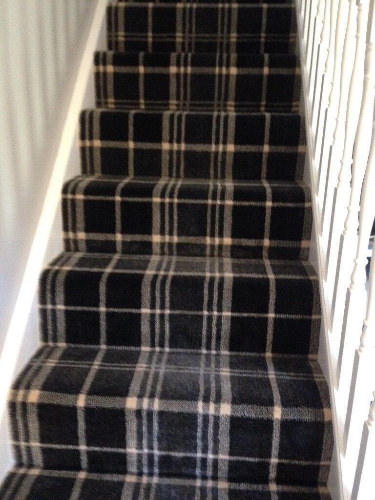 Black tartan carpet in bishopbriggs glasgow gumtree for Black wall to wall carpet