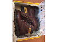 CAT Brown Leather Boots, Size 3 (Eur 36)