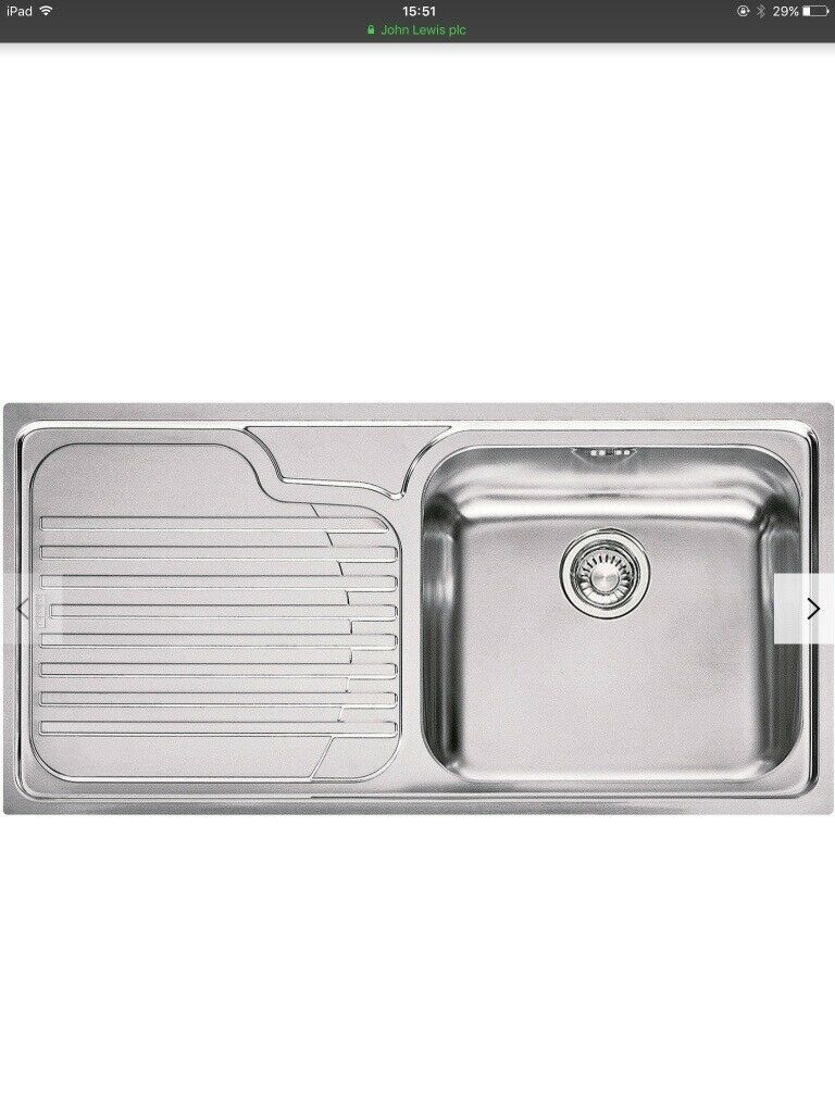 Franke Galassia Kitchen Sink with Left Hand bowl, Stainless Steel Brand  New  Can Deliver | in Dunfermline, Fife | Gumtree