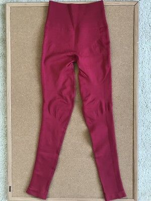 Lululemon Red Cranberry Zone In Tight Compression Leggings, size 2