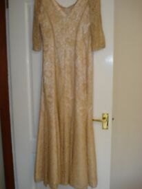 Mother of the Bride Full lace gold gown with matching jacket designed by 'GLITTERATTI