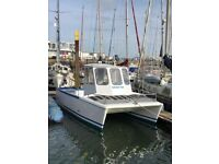 Fishing catamaran 22ft X 10ft with twin Honda outboards