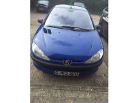 PEUGEOT 206 BLUE COLOUR AUTOMATIC WITH AIRCONDITION