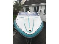 Fletcher bravo speed boat 60hp mercury engine excellent condition all reupholstered seating