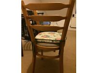3 Wooden Chairs with Cushion
