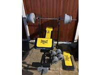LikeNew Multifunctional Bench With 60kg Weights Set. •Can Deliver•