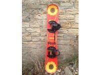 Vintage 1995 Sims 🌻 Shannon Dunn 🌻 First Pro Model Women's Sunflower Snowboard