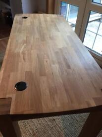 Large solid oak computer table