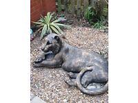 Special offer huge bronze effect tiger statue
