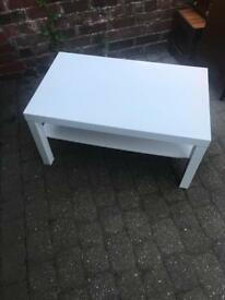 White Tv stand or coffee table ikea lack