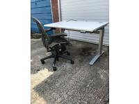 FREE UK DELIVERY - 1200x800 sit stand /motorised/electric desk/standing desk