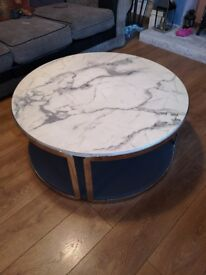 New Marble effect round coffee table
