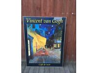 Large framed Van Gogh painting picture print, bargain free delivery