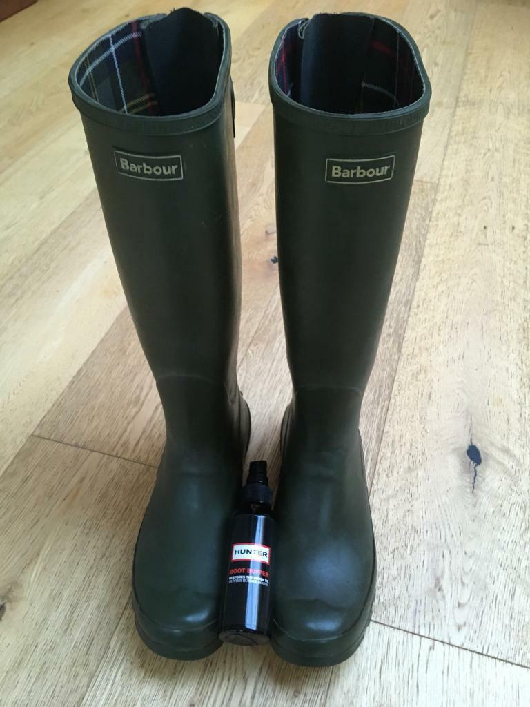 Barbour ladies wellies wellington boots 7 & hunter boot buffer