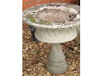 Very large solid stone urn planter