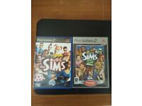 PS2 games - The Sims and Sims 2