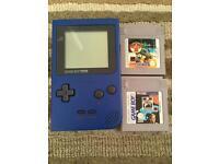 Nintendo gameboy pocket blue and games