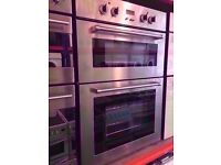 Delonghi electric built in double oven and grill, silver colour , fully working, for sale .
