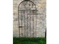 Good quality heavy gauge steel wrought iron style garden gate
