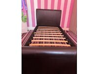 Black single bed good condition!