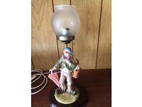 OLD ORNAMENTAL CLOWN LAMP