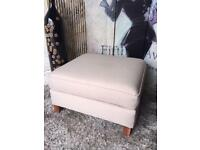 New Large Furniture Village Footstool In Sand Colour Soft Fabric Delivery Available