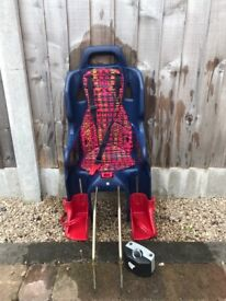 Child's bike seat suitable up to 22kg