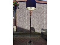 Brown lamp and shade