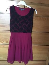 Mela Loves London burgundy dress size 10 (would fit an 8)