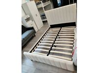 ⭐️🌟Popular Bed Frame⭐️🌟Lucy Bed Frame in grey and Champagne Color With Mattress Options