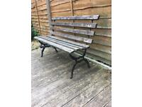 victorian cast iron garden bench £40