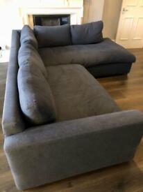 John Lewis Navy Corner Sofa