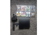 Ps3 250gb with games and accessories