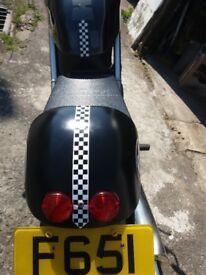 Honda Bros 650cc cafe racer.