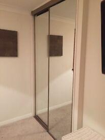 Mirrored sliding wardrobe doors X 2