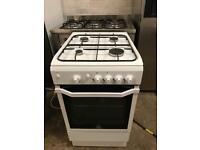 Indesit gas cooker 50cm white