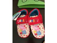 Peppa slippers size 8