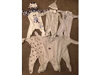6 baby boy sleepsuits/ play suits 3-6 months excellent condition