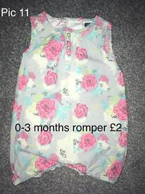 Baby Clothes - 0 to 3 Months Romper