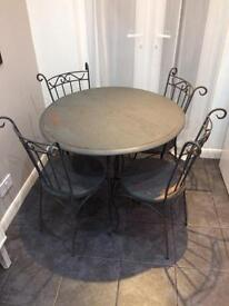 Cast iron table and chairs (shabby chic)