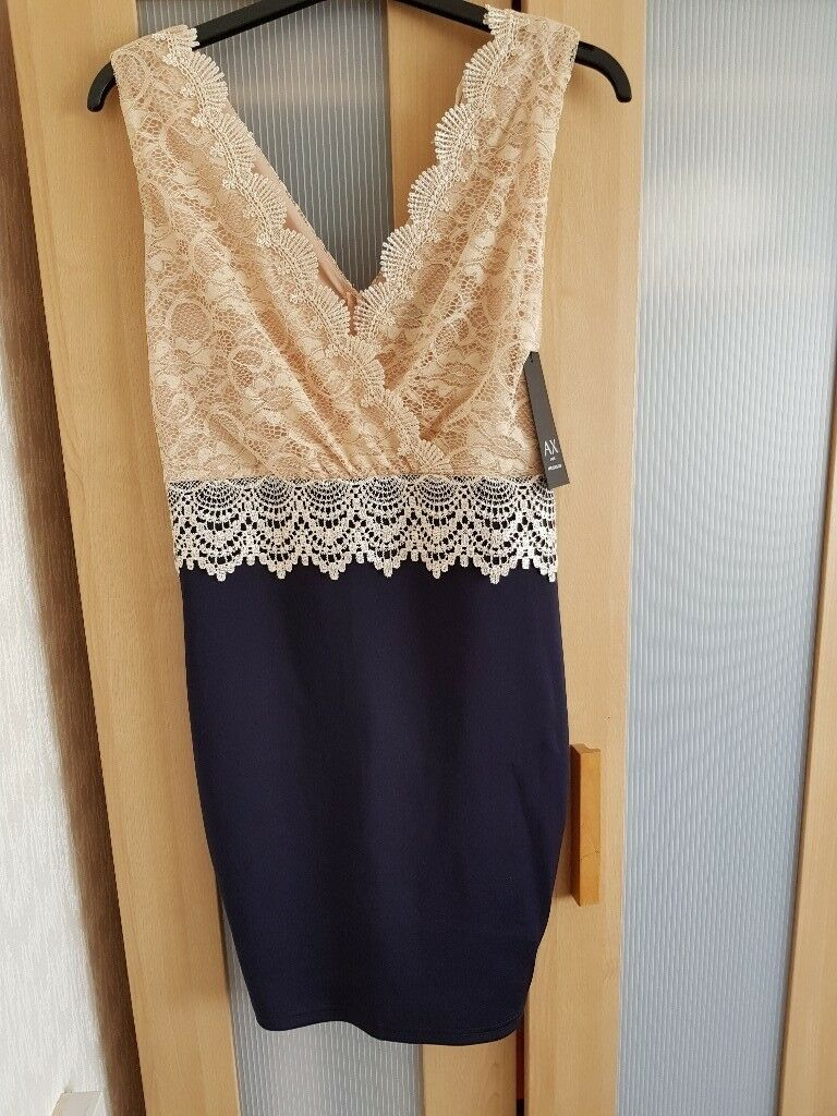 BRAND NEW WITH TAGS AX PARIS SIZE 12 DRESS