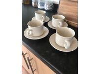Vintage Churchill Homespun Creamic Mug & Saucer Set