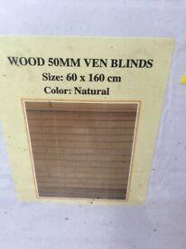 Brand New wooden Blind 60x160cm