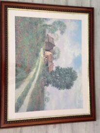 Country scene wall art