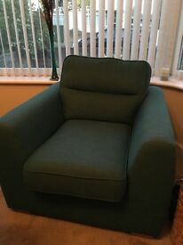 DFS Sofa, armchair and footstool