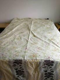 John Lewis curtain/ blind/ fabric green, white, pink magenta